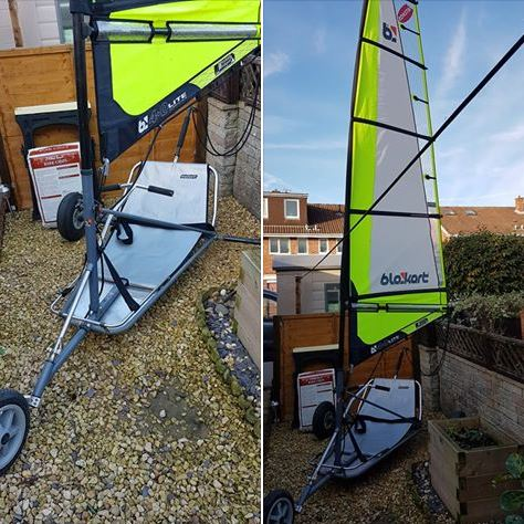 Used Comp blokart with 4m sail and mast.