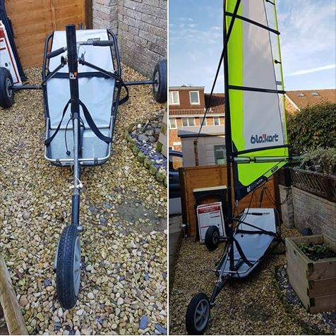 Used classic blokart with 4m sail and mast