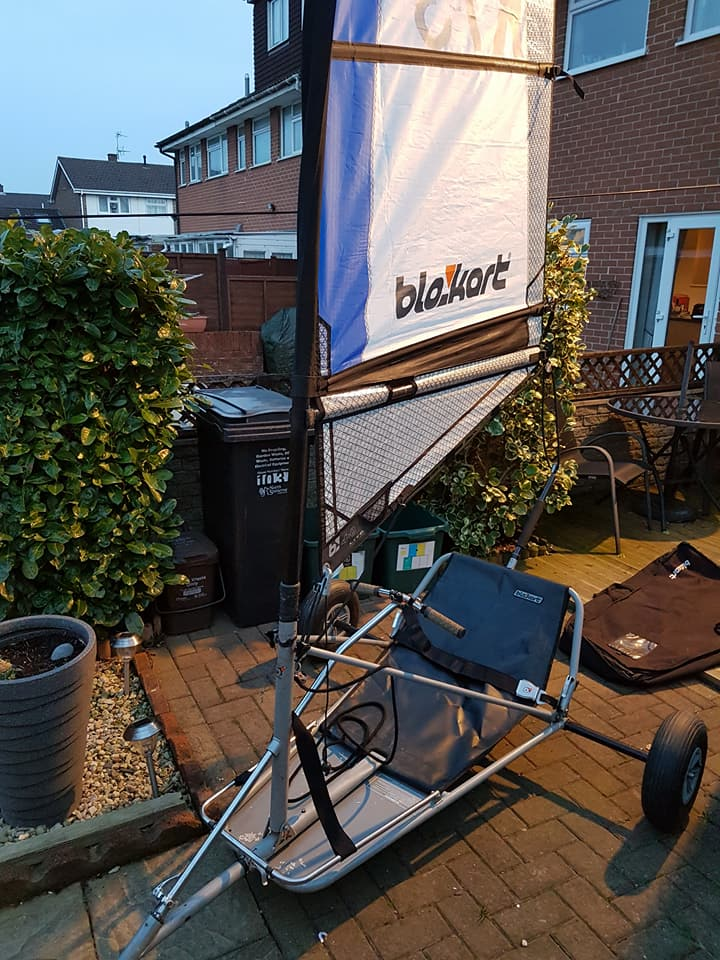 Sport kart in good condition with a 4m sail. £1100