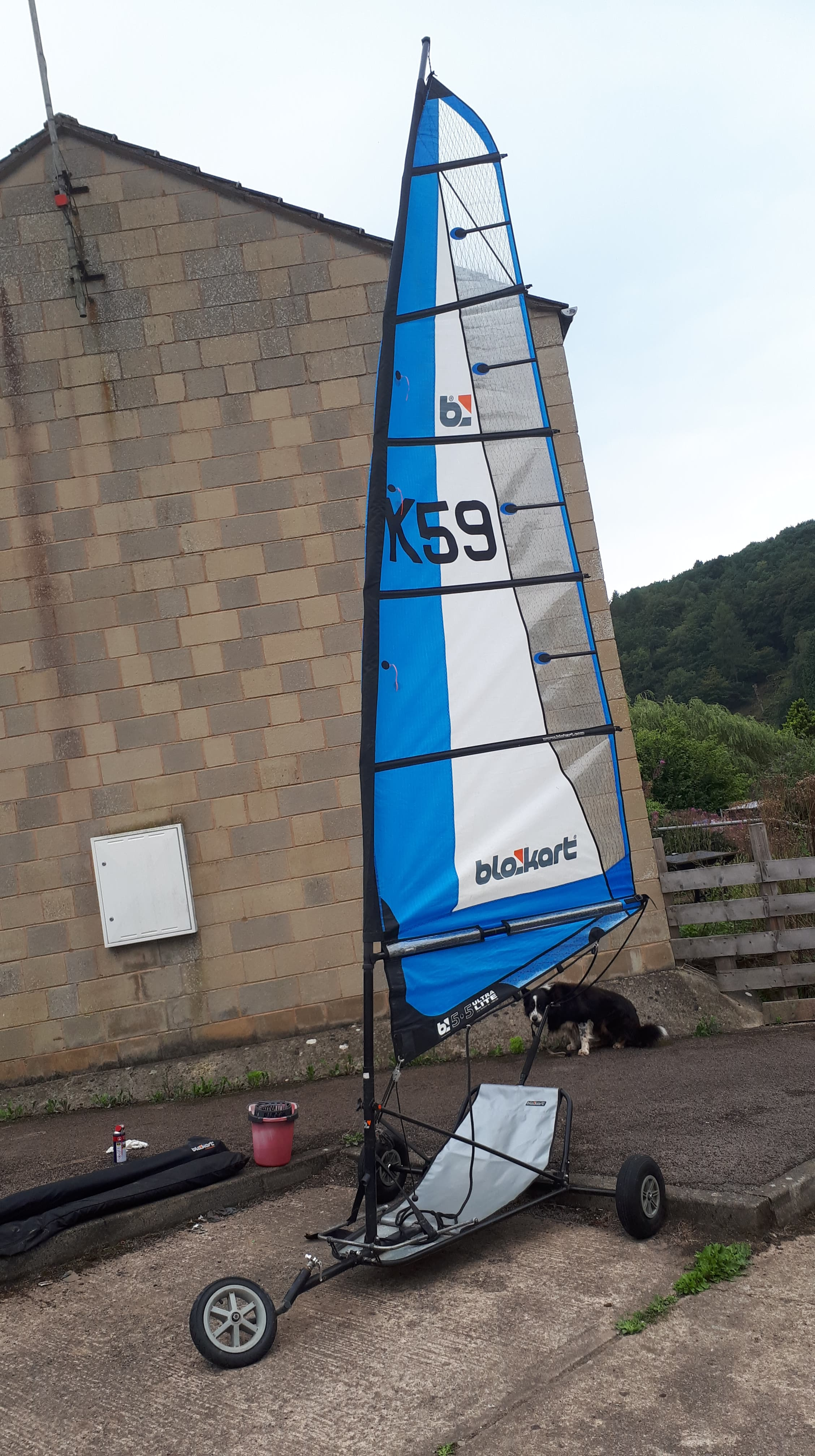 Classic Kart with a 3m 4m 5.5 sail