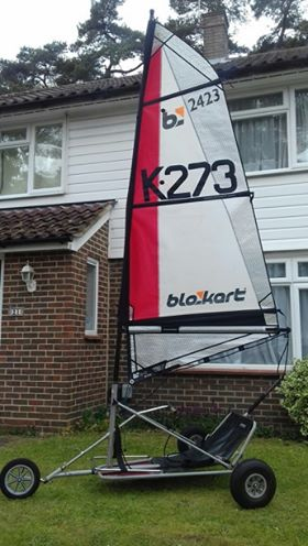 sport kart with 3m sail