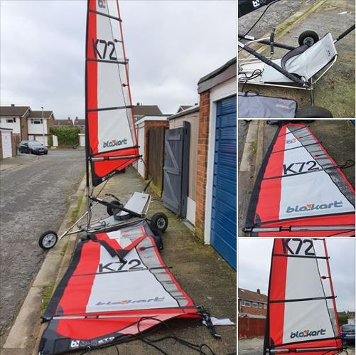 Pro V2 kart with 3m and 4m sails.