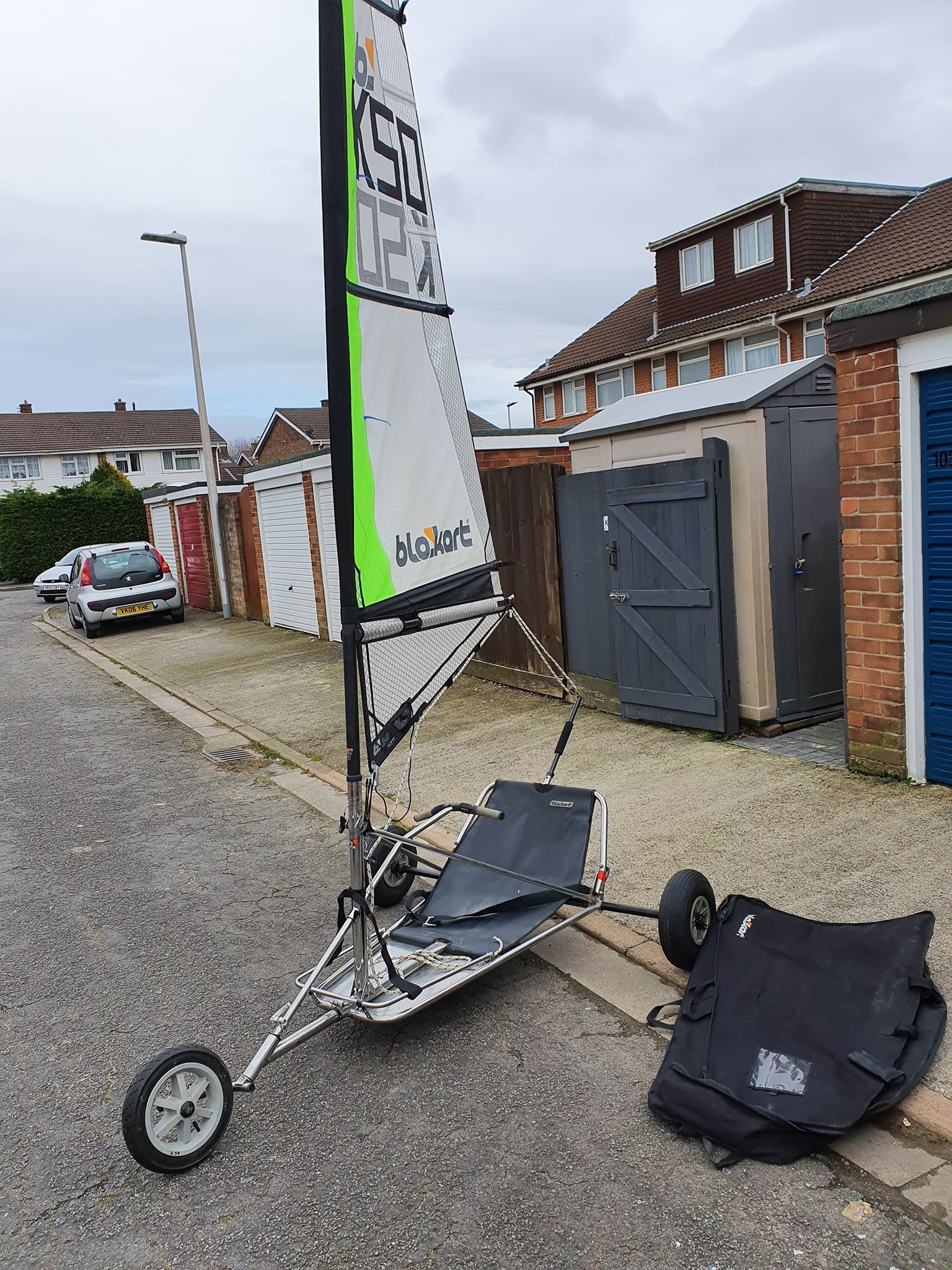 Stainless Pro kart with 4pc combo mast - 3m sail