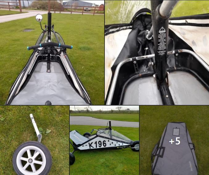 Classic Kart with 4m and 2m sails