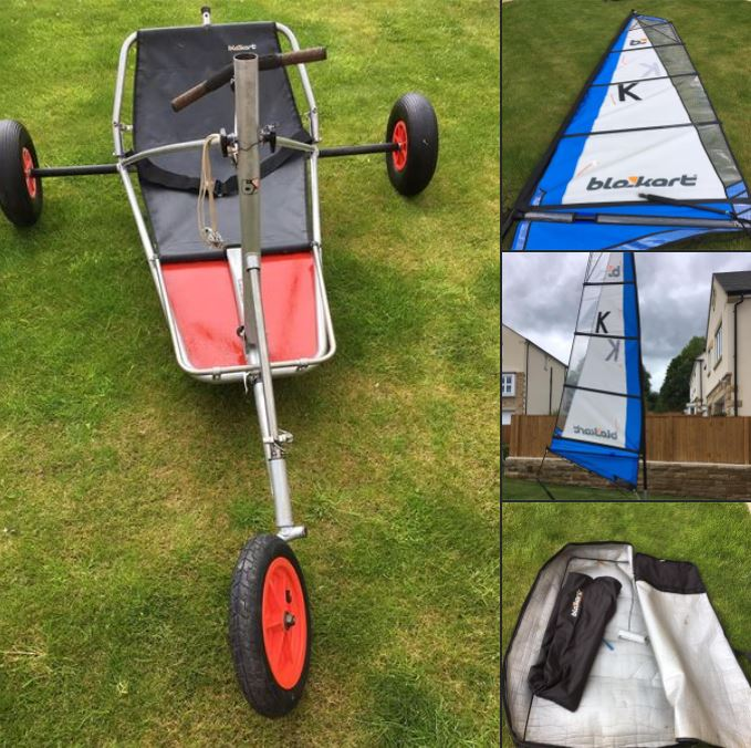 Early model Sport kart. But with much newer 4m sail