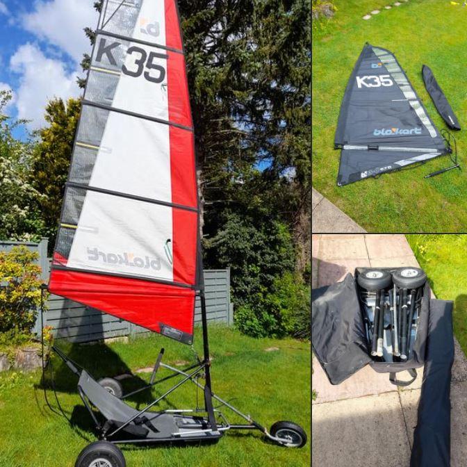 Classic Kart. With fibreglass mast, 3m and 4m sails.